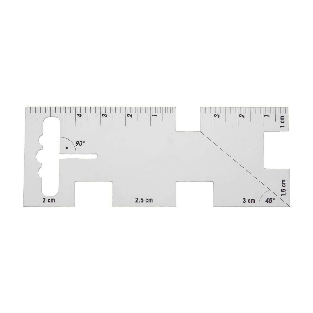 DIY Plastic Sewing Ruler Patchwork Thickness Ruler Measuring Gauge Clothes Measuring Tools Home Tailors Hand Craft Curve Ruler