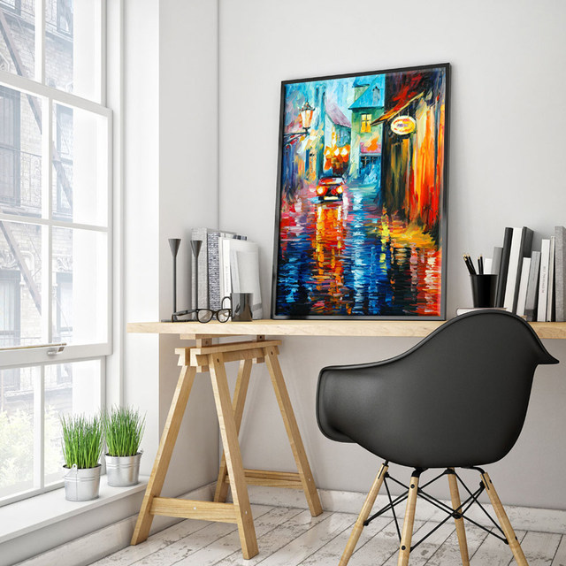 Online Shop American Style vintage home decor abstract oil painting ...