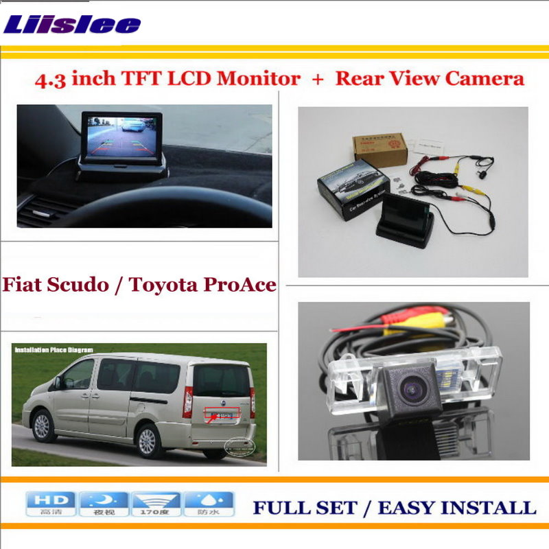 Liislee For Fiat Scudo For Toyota ProAce Car Reverse Backup Rear Camera 4 3 TFT LCD