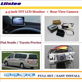 """Liislee For Fiat Scudo /For Toyota ProAce Car Reverse Backup Rear Camera + 4.3"""" TFT LCD Screen Monitor = 2 in 1 Parking System"""