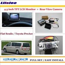 """Liislee Per Fiat Scudo/Per Toyota ProAce Inverso Dell'automobile Telecamera Posteriore di Backup + 4.3 """"TFT Lcd Monitor = 2 in 1 Sistema di Parcheggio"""
