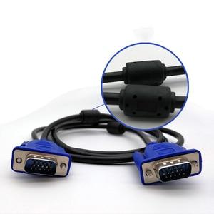 Image 4 - Larryjoe 1.5m przedłużacz VGA HD 15 Pin z męskiego na męskie kable VGA przewód drutowy rdzeń miedziany do komputera monitor komputerowy projektor