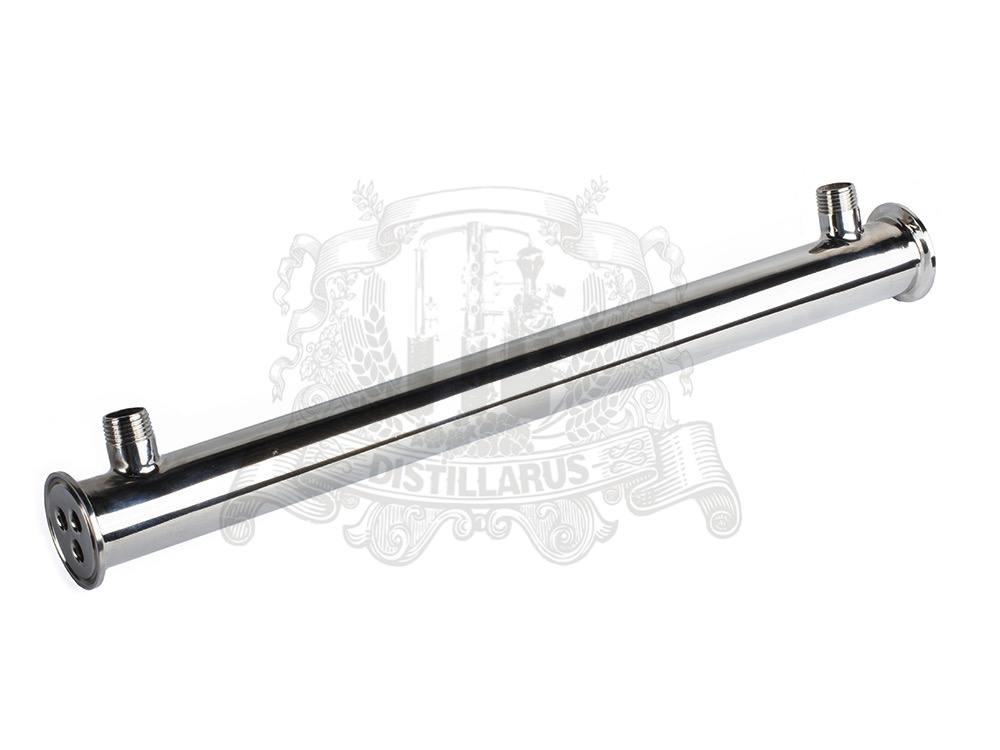 1,5 (OD50.5) Stainless  steel 304  condenser 300mm with 3pcs partition wall 5pcs 304 stainless steel capillary tube 3mm od 2mm id 250mm length silver for hardware accessories