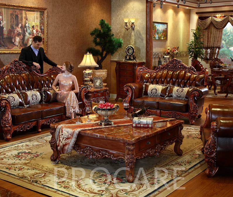 Top Selling Factory Offer Leather Sofa Set 3 2 1 Seat In Living Room Sofas From Furniture On