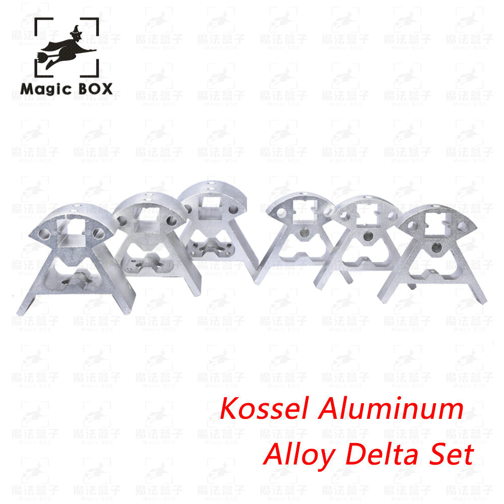 Set Full Metal Kossel Aluminum Alloy Delta Set Big And Small Corner Pieces Aluminum Alloy Base for 3d printer parts цена 2017
