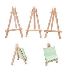 Mini chevalet d'artiste en bois, 12,5x7 cm, 1 pièce, support pour carte de mariage, présentoir, décoration de fête,