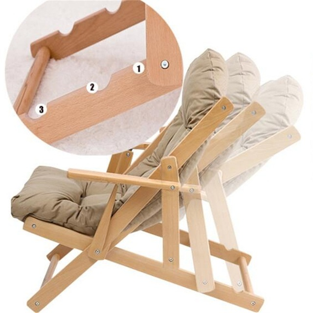 Nice Modern Folding Chair #25 - Solid Wood Sofa Chair Modern Portable Folding Chair Living Room Dining Chair  Outdoor Leisure Garden Chair