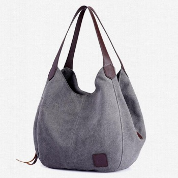 Women's Canvas Handbag Lady Canvas Hobo Bag Female Large Capacity Shoulder Bag 1