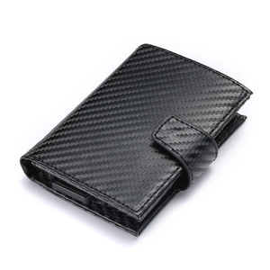 Image 2 - BISI GORO 2020 inteligentny portfel męski futerał na karty RFID stop Aluminium metalowy portfel na karty kredytowe antykradzieżowe męskie automatyczne etui na karty