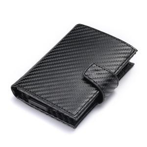 Image 2 - Bisi 五郎 2020 スマート財布男性 rfid カードホルダーアルミ合金金属クレジットカード財布盗難防止男性自動カードケース