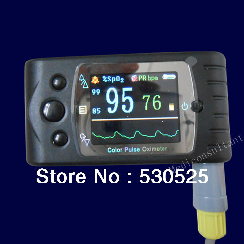 CE FDA CMS60C Color TFT Hand-held Pulse Oximeter+SPO2+PR+Analysis Software