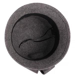 Image 5 - Винтажная Стильная осенне зимняя 100% шерстяная фетровая шляпа для женщин с цветами, верхняя шляпа для девушек, Женская флоппи Кепка с бантиком