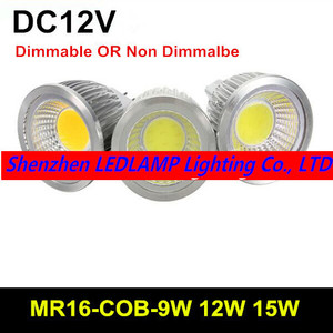 MR16 9 Вт 12 Вт 15 Вт COB LED прожектор лампа LED Enegy Энергосберегающая лампа Теплый/Холодный белый DC12V LED освещение 10 шт
