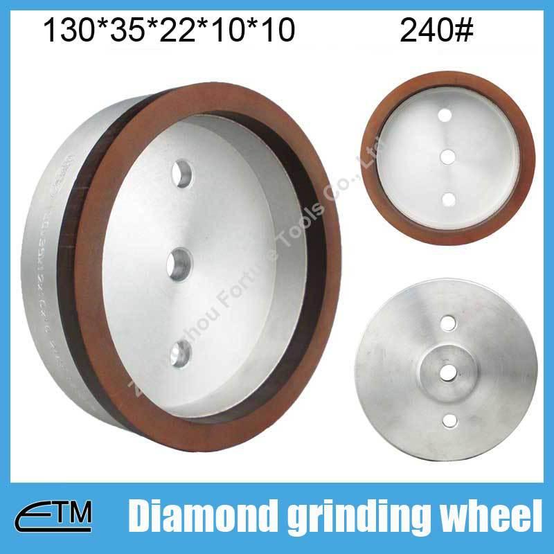 10pcs 4# full rim sintered resin bond abrasive grinding wheel for glass 130*35*22*10*10 grit 240# BL041  цены