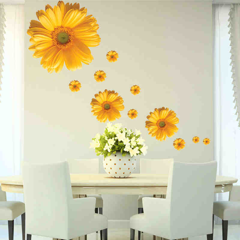 5 design small sakura flower wall stickers bedroom room pvc decal - Home Decor