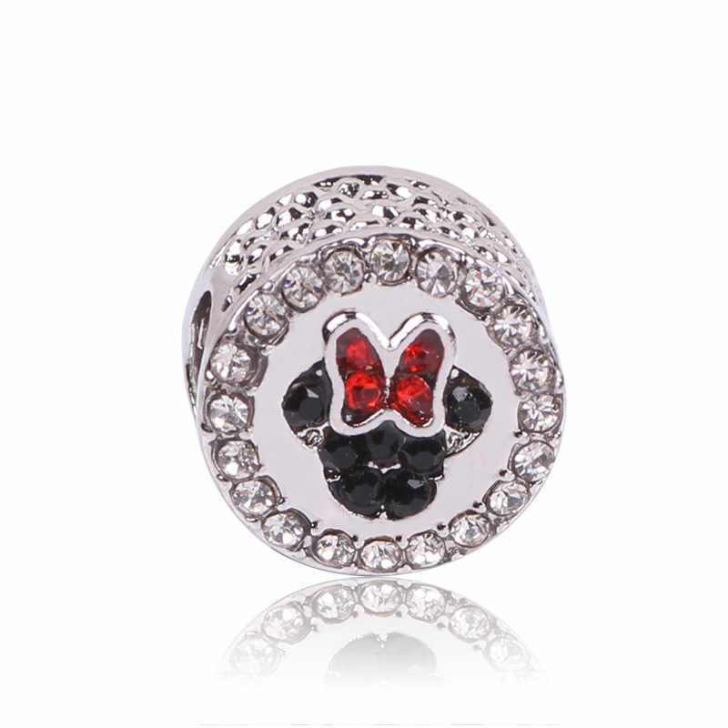 Fit Original Pandora Charms Bead Bracelet 2018 Autumn Really 925 Silver Color Charm Minnie Mickey DIY Jewelry Making Berloque