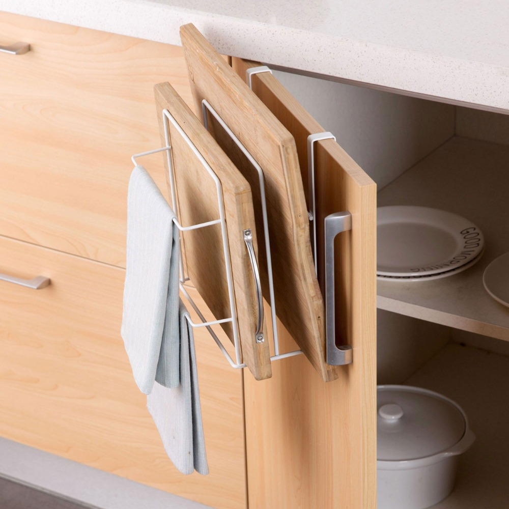 OTHERHOUSE Kitchen Organizer and Dish Cloth Rag Holder for hanging Kitchen Towel 2
