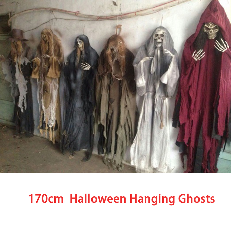 5.57 Feet 170cm Sound control Halloween Hanging Ghosts Haunted House Escape Horror Halloween Decorations