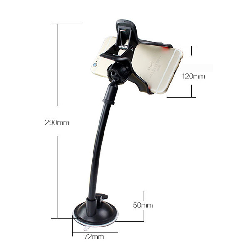 Image 5 - Universal Double headed Car Windshield Suction Cup Type Mobile Phone Holder Adjustable Angle For Car Navigation Phone Bracket-in Phone Holders & Stands from Cellphones & Telecommunications