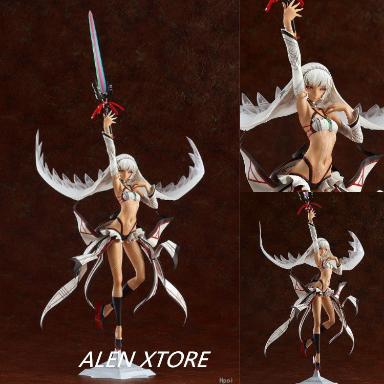 ALEN 44cm Anime Fate Grand Order Saber Attila Sexy Swing Sword Boxed PVC Action Figure Collection Model Doll Toy Gift цена и фото