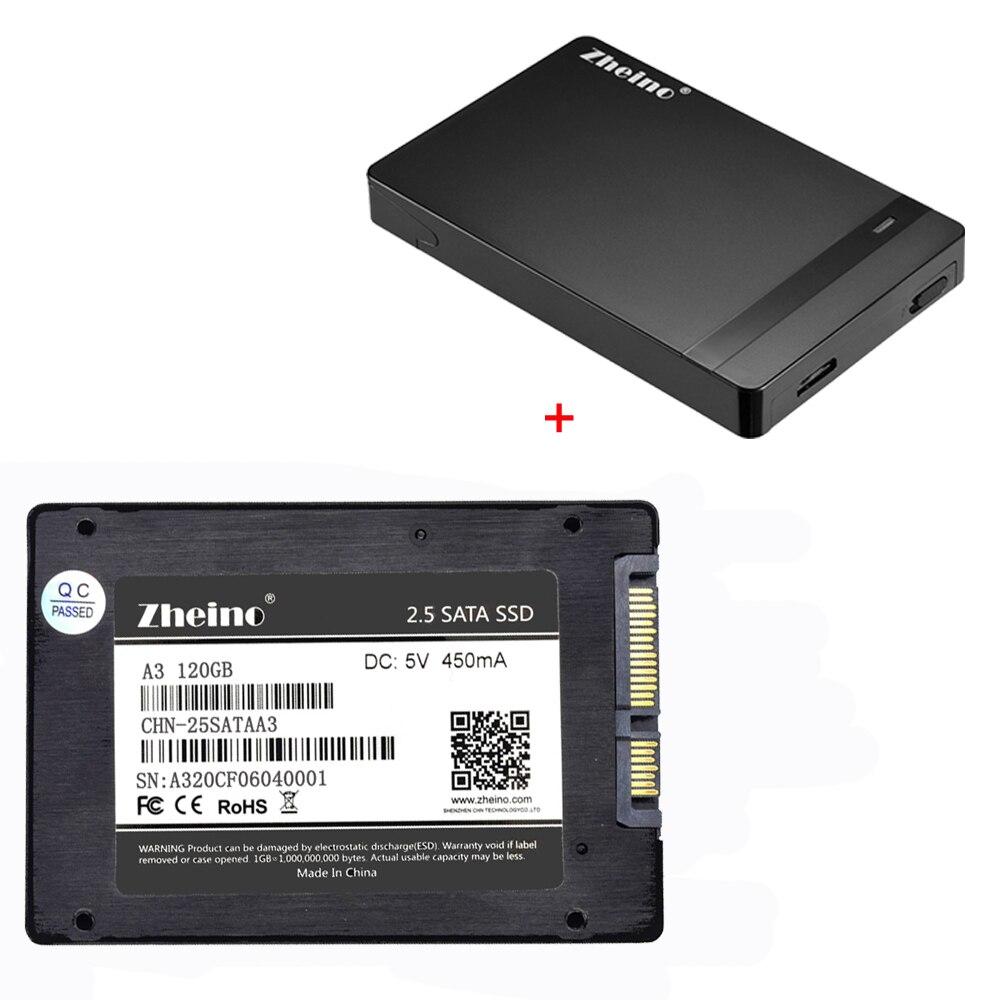 Zheino P1 2.5 SATA3 SSD 120GB 240GB 360GB 480GB 128GB 256GB 512GB Solid State Drive with 2.5 HDD External Drive Disk цена