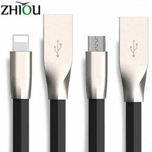 New 3D Zinc Alloy i6 USB Cable for iPhone 6 6S Plus Charger Power Cord Cables for Android Mobile Phone Samsung Xiaomi Huawei