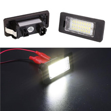 Vehemo 2pcs LED Bulb Beads Number License Plate Light Lamp for BMW 1er/6er 3W White Light Super Bright