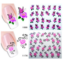 2pcs Flower Nail Sticker