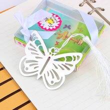 Пустые металлические закладки бабочки livre с мини картами кисточками