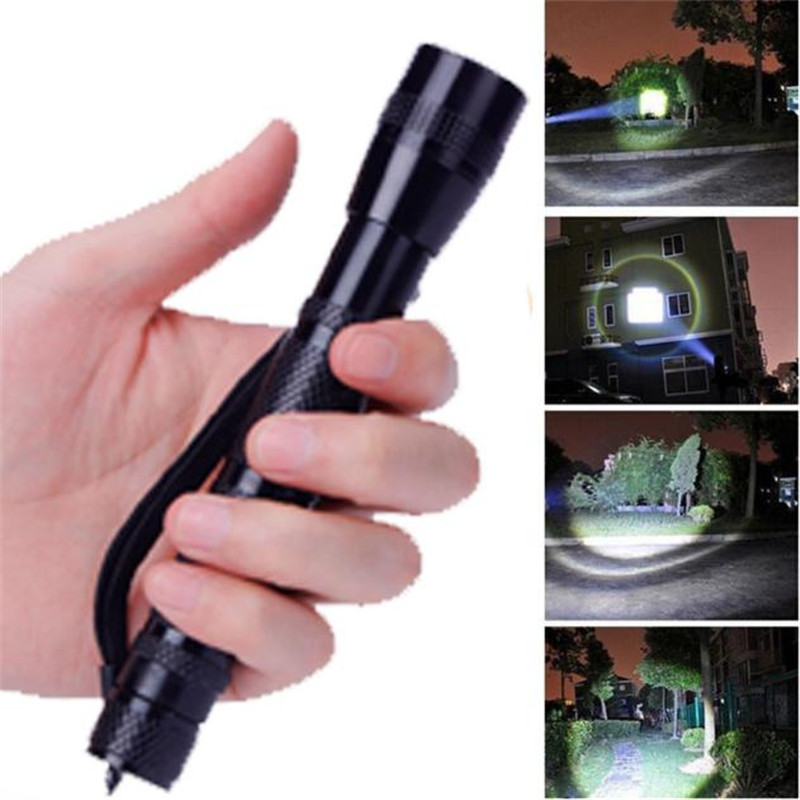 B2 Led Light Light XPE-R3 LED 1200 Lumens Lamp Clip Penlight Flashlight Torch AA Super bright With A Clip Wholesales&Retails