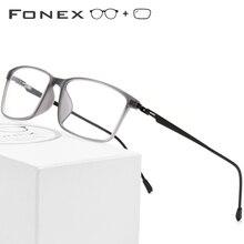 d5e00ead85 Montura de gafas de aleación de titanio TR90 montura de gafas de ojo de miopía  para hombre 2019 marcos ópticos coreanos sin torn.