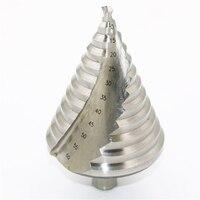 6 60mm Hss Step Cone Drill Bit Hole Cutter Set 12 Steps Metric Step Drill Wood Plastic Metal Drilling Shank