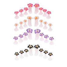 8pcs/set flower shape Foot Toe Separator Silicone Finger Protector Nail Tips Divider Salon Polish Pedicure Manicure Nail Tool