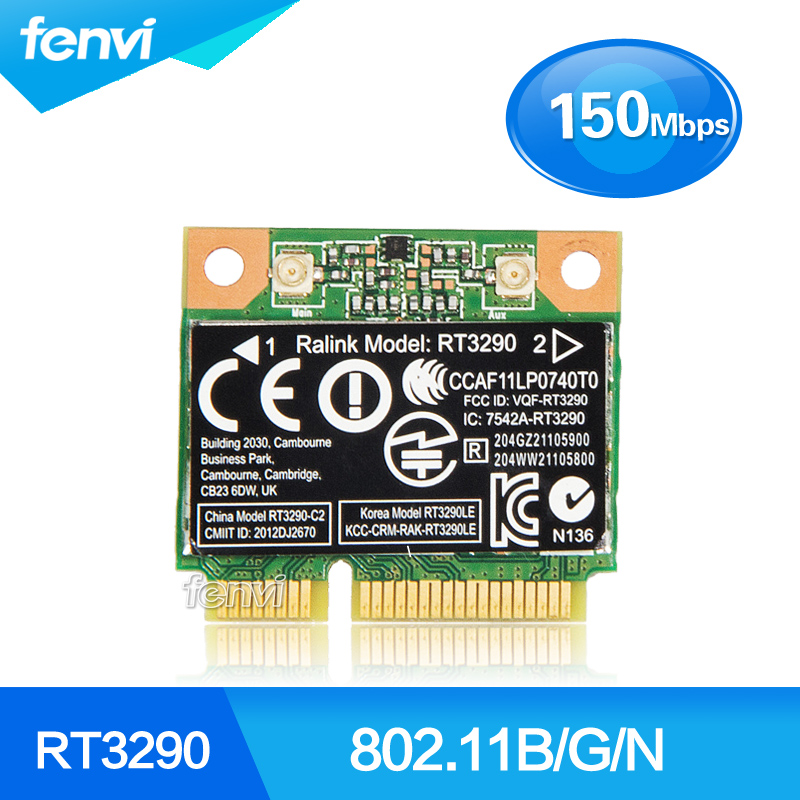 150Mbps 2.4Ghz Ralink RT3290 802.11b/g/n Wireless Wlan WIFI + Bluetooth BT 4.0 Half Mini PCI-E Card For HP CQ58 M4 M6 4445S DV4