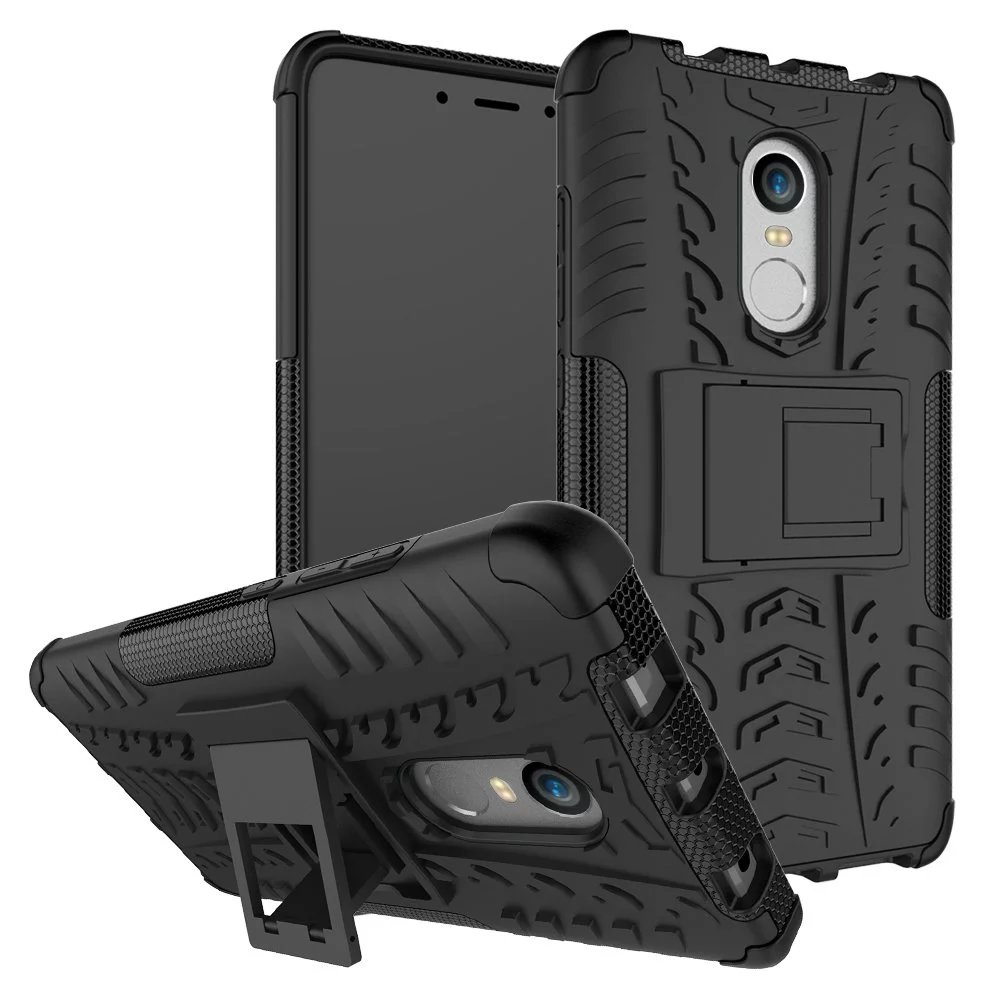 Voongson For Xiaomi Redmi Note 4 Cases Luxury Protective Back Cover Brushed Carbon Armor Hard Soft Case Mi5s Mi 5s Tough Rugged Dual Layer Tire Style Hybrid Kickstand Duty