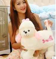 Large 42 Cm Plush Poodle Shepherd Dog Toy Doll Christmas Gift W8844