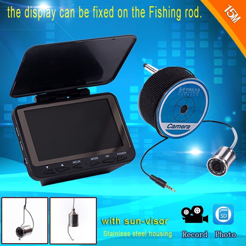 15 mt/30 mt Fish finder Unterwasserkamera/Monitor System DVR Funktion von asmile