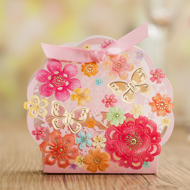 цены Happy Sugar Box Creative 2017 Wedding Sugar Box Wedding Gift Box Candy Box  CB5123