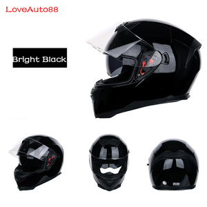 Image 3 - Casque de moto professionnel intégral casques sûrs casque de course casque de moto modulaire à double lentille pour femmes/hommes