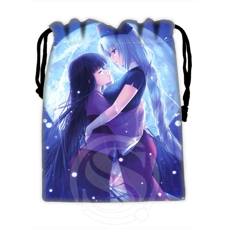 H-P798 Custom Anime Girl#23 Drawstring Bags For Mobile Phone Tablet PC Packaging Gift Bags18X22cm SQ00806#H0798