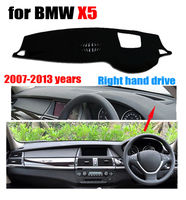 Car dashboard covers for BMW X5 High configuration 2007-2013 Right hand drive dashmat pad dash cover auto dashboard accessories