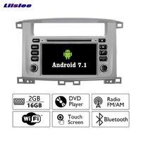 Liislee Android 7.1 2G RAM For Toyota Land Cruiser 100 Car Radio Audio Video Multimedia DVD Player WIFI DVR GPS Navi Navigation