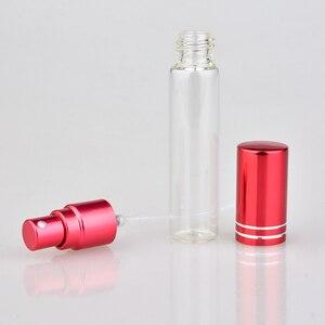 Image 3 - Botella de Perfume de cristal colorida portátil, con atomizador, envases cosméticos vacíos para botellas de viaje, 10ML, 20 unids/lote