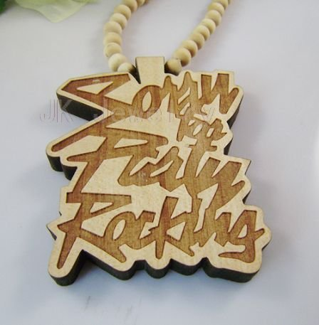 Novelty! hiphop style wood necklace hand made necklace with pendant Rocking 20pcs/lot
