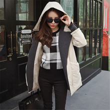 The New Women s Cotton Padded Jacket Winter Fashion Nice Girls Padded Thicker Jackets Long Section
