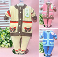 Retail 2017 otoño invierno niños conjuntos traje de bebé nuevo estilo sistema de la ropa de punto suéter niño niña set de 2 unidades 6-24 M tamaño