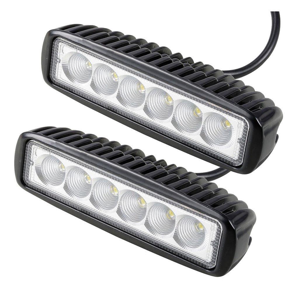 2PCS 18w DRL LED Work Light 10-30V 4WD 12V For Off Road Truck Bus Boat Fog Lights  Car Light Assembly ATV Daytime Running Light
