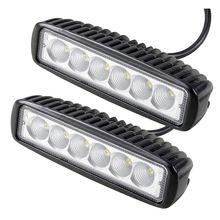 Противотуманные фары 2 шт. 18 Вт DRL светодиодный свет работы 10-30 В 4WD 12 В для бездорожью грузовик автобус лодка туман свет