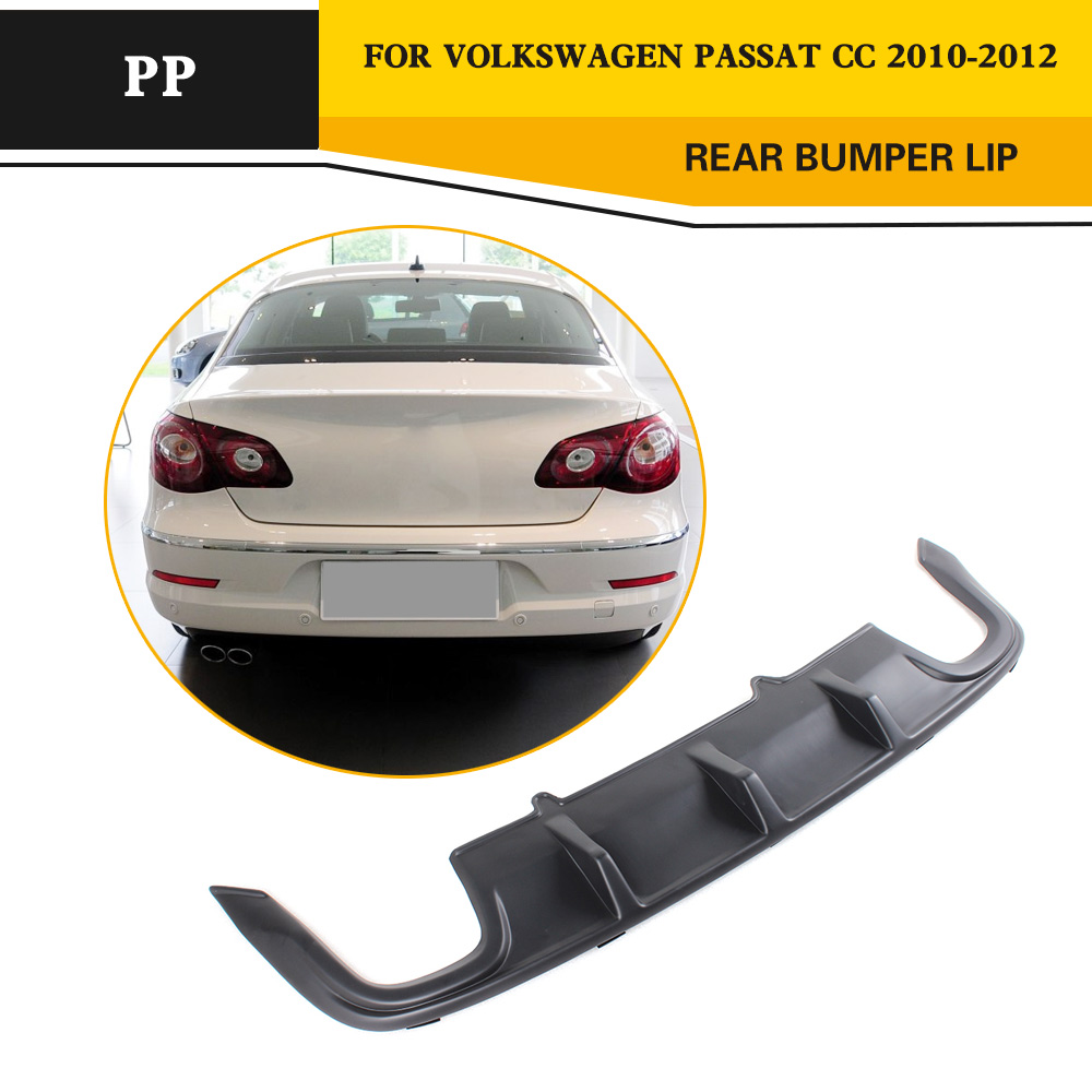 PP JC Car Styling auto rear spoiler diffuser lip for Volkswagon VW Passat CC Sedan 4 Door 2010 2011 2012 arti lampadari favola e 2 10 501 n