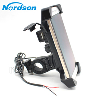 NEW Motorcycle Phone Holder With USB Charger Mobile Phone Holder For Electric Car Motorbike Mountain Bike